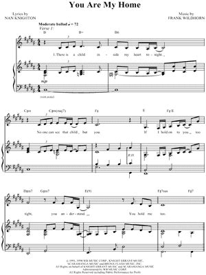 "Christine Andreas ""You Are My Home"" Sheet Music - Download"