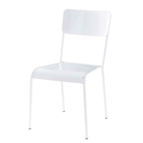 chaises blanche chaise blanche edison maisons du monde