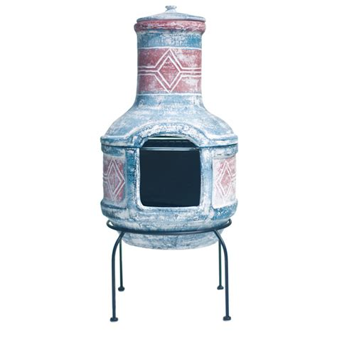 geometric with grill small chimenea garden features