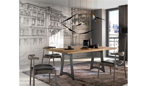 mesa de comedor industrial loft de lujo en