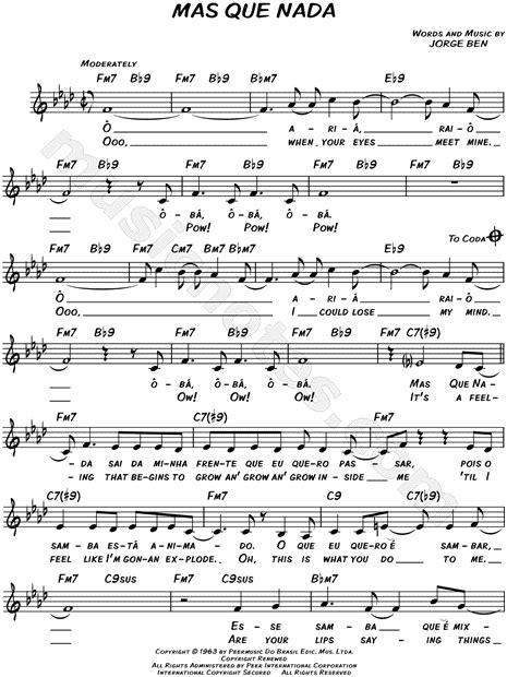 piano tutorial mas que nada sergio mendes brasil 66 quot mas que nada quot sheet music