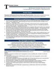 Pastor Resume by Senior Pastor Professional Resume Sle Resume S Professional Resume Sles