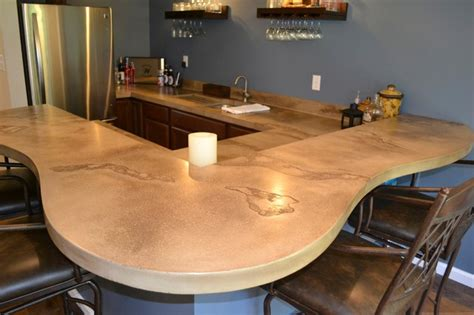 Concrete Countertops St Louis concrete counter tops contemporary kitchen countertops st louis by customcrete inc