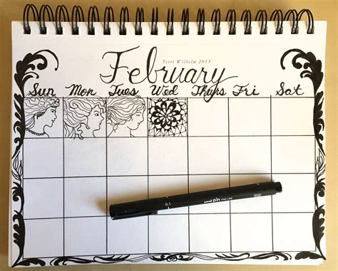 daily doodle calendar 2015 from my sketchbook january and february doodles s
