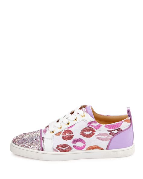 Christian Sneaker christian louboutin gondolastrass lip print low top sneaker in white lyst