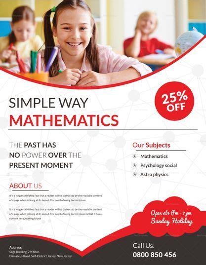 Math Flyer Template