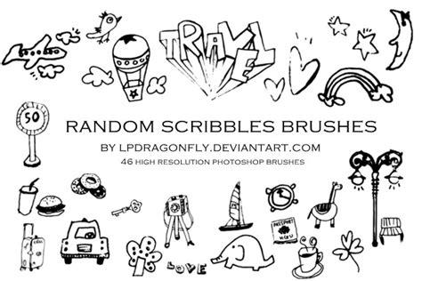 random pattern brush photoshop random scribbles brushes by ivadesign on deviantart