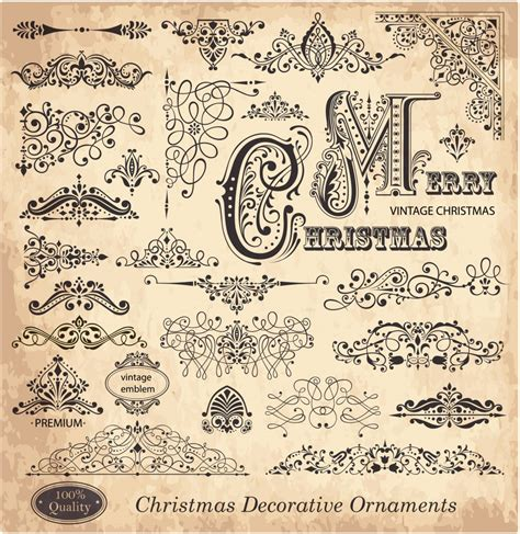 ornament design elements vector set free calligraphic vectors design inspiration vexels blog