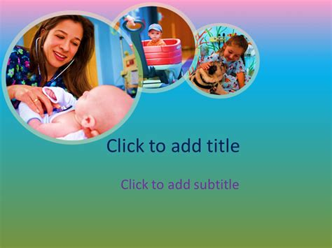 Pediatrics Powerpoint Template Free Download Free Medical Powerpoint Templates Medical Pediatric Powerpoint Templates Free