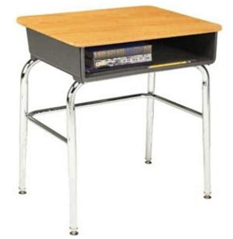 open front school desk woodstone top u brace acf