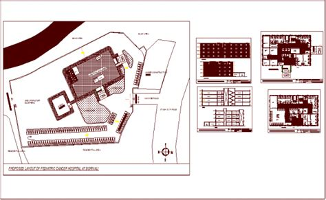 layout section view cancer hospital for pediatric layout plan with section and