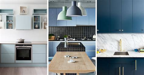 blue color kitchen cabinets color inspiration modern kitchen with blue cabinets