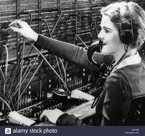 Switch Bor Mail Post Telephone Switchboard Telephonist 1938 1930s 30s Stock Photo Royalty Free