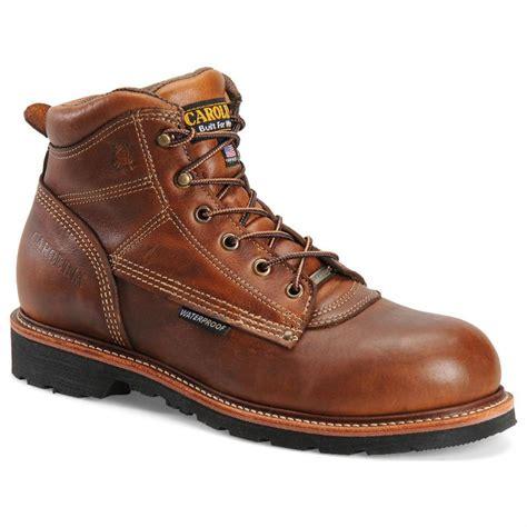 carolina work boots review s carolina 174 6 quot domestic waterproof work boots tobacco