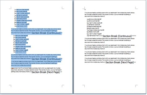 deleting section breaks quickly remove all section breaks from document in word