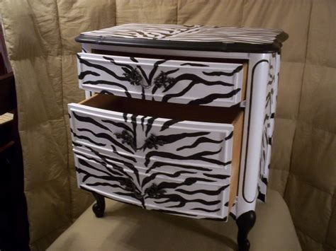 furniture unique cabinet storage zebra print upholstery