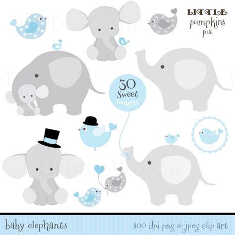Elephant Baby Shower Boy by Baby Elephants Digital Clipart Clipart Animals