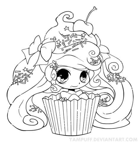 chibi lollipop girl coloring page free printable chibi cupcake girl coloring page free printable coloring