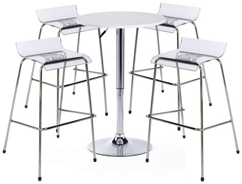 white bar table and chair set includes 4 seats