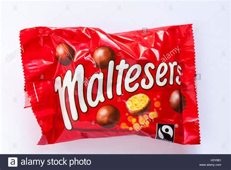Maltesers Treats Size packet of size maltesers isolated on white background
