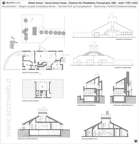 House Drawings vanna venturi house dwg drawings