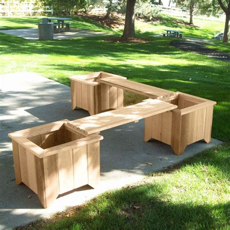 outdoor planter bench build deck planter bench woodworking projects plans