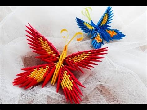 How To Make 3d Origami Butterfly - how to make 3d origami butterfly origami motyl krok po