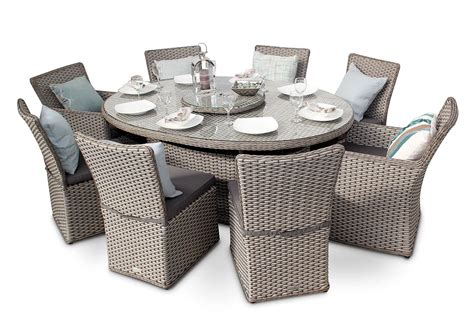 how to set an oval dining table richmond 8 seater rattan oval garden dining table set