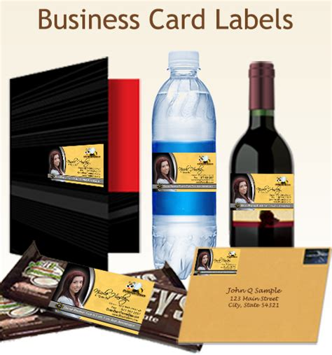 Business Card Labels
