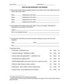 Peer Editing Worksheet For Persuasive Essay by Personal Essay Peer Editing Sheet