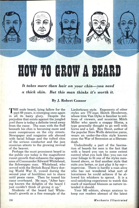 how to put in a beard how to grow a beard modern mechanix