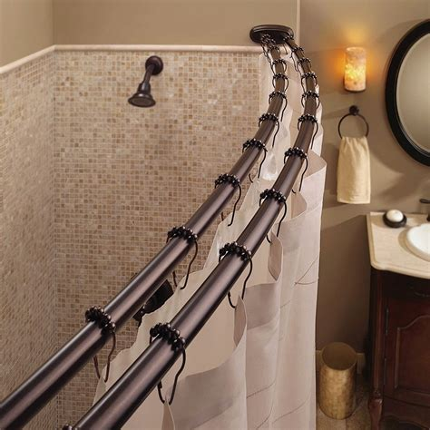 neo angle double solid brass shower curtain rod bathroom bathroom shower curtain rods curtain menzilperde net