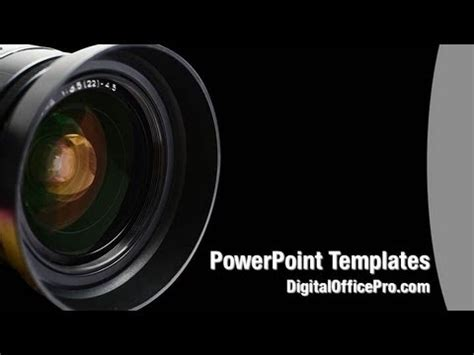 camera lens powerpoint template backgrounds