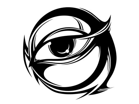 tribal tattoo eyes tribal images clipart best