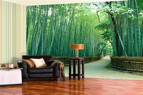 Conterior: Wall Wallpapers and Wooden flooring for Home