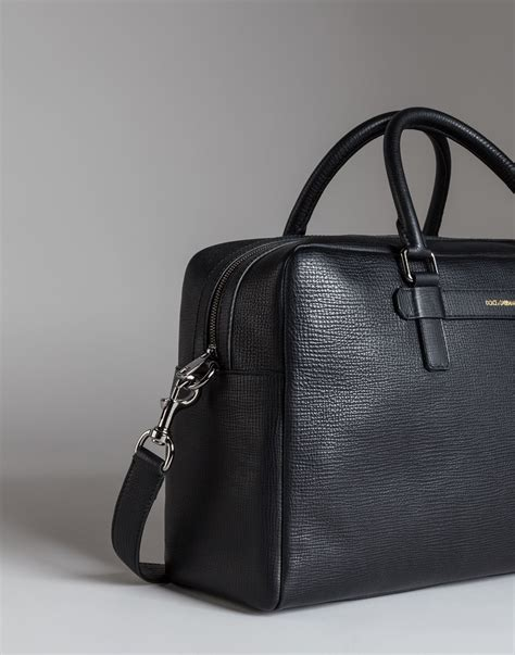 Dolce And Gabbana Travel Bag by Dolce Gabbana Mediterraneo Travel Bag In Grained Leather