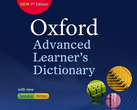 Oxford Advanced Learners Dictionary Edition 9 oxford advanced learner s dictionary 9th edition with iwriter ispeaker software updates