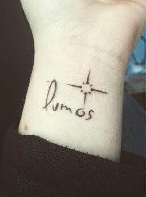 harry potter tattoo tumblr lumos
