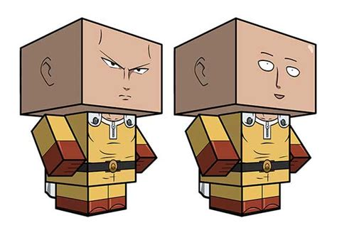 Papercraft Punches - one punch saitama cube craft free paper