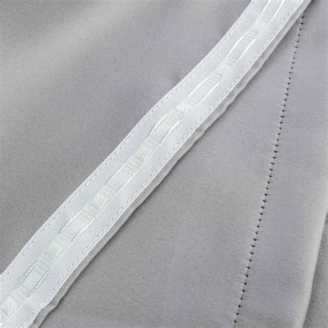 thermal curtain lining fabric pencil pleat thermal blackout curtain lining pair grey