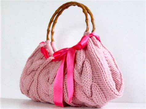 Handmade Knitting Bags - knitted bag nzlbags handmade handbag shoulder bag by nzlbags