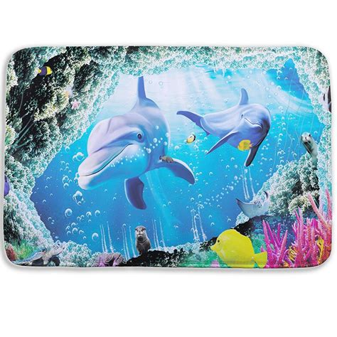 dolphin bathroom rugs popular fish bath rug buy cheap fish bath rug lots from