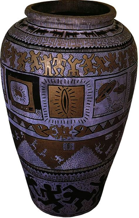 Keith Haring Vase by Requiem For The Degas Of The B Boys Keith Haring