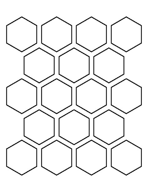 Free Patchwork Templates Printable - 2 inch hexagon pattern use the printable outline for