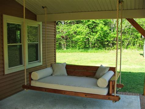 hanging porch bed swing plans outdoor swing bed plans hanging chairs pinterest outdoor