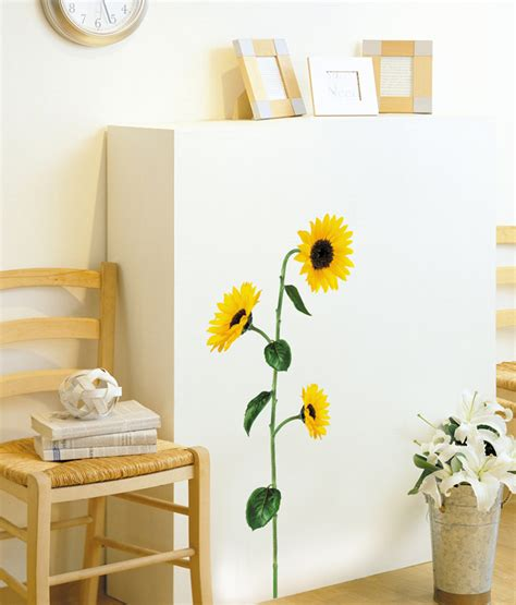 sunflowers decorations home sunflower wall stickers for home decoration wallstickery com
