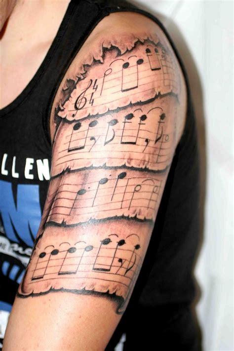 sheet music tattoo 17 best ideas about sleeve tattoos on