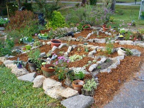 rock garden with potted plants rock garden inspiration ideas decor around the world