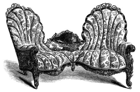 victorian sofa and chairs for victorian furniture sofa and chair free clip art old