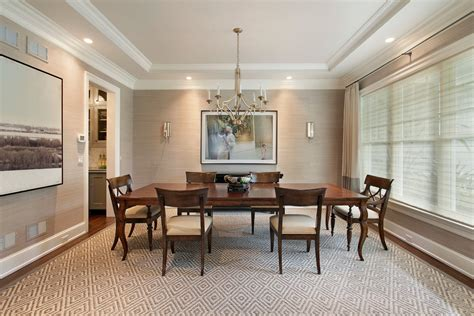 Grasscloth Dining Room by Grasscloth Wallpaper Dining Room Traditional With